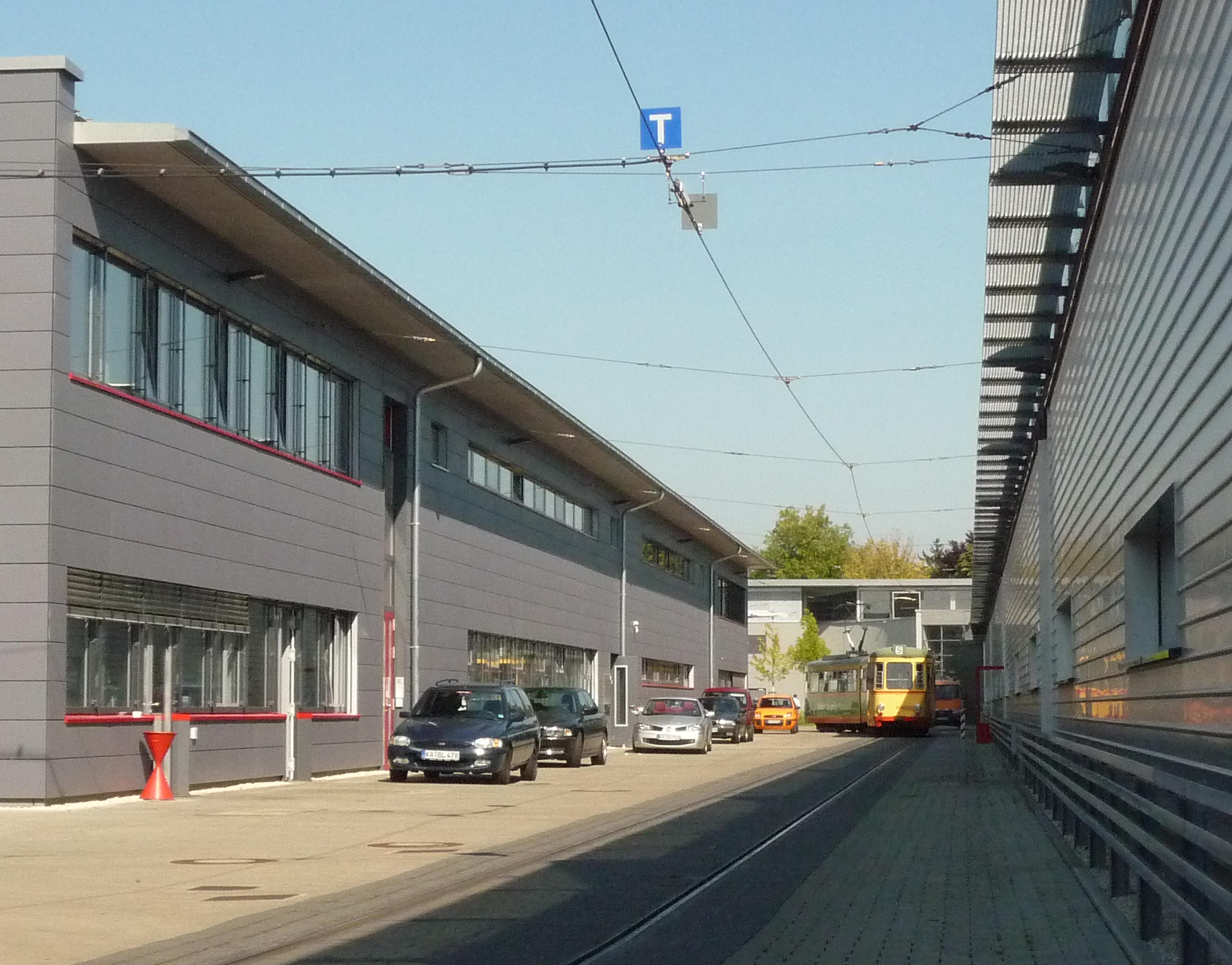 Betriebshof vbk gerwigstra e b ro f r architektur - Architektur karlsruhe ...